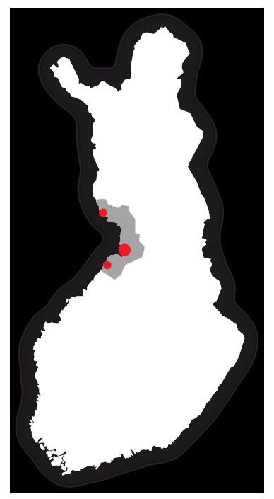 Jakelualue Suomessa
